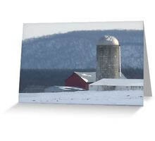 cold winter day in the country Greeting Card