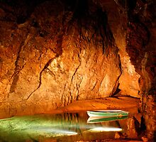 Underground Lake in Cave by John Wallace