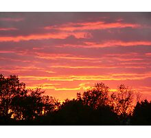 sunset of fire Photographic Print
