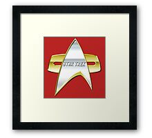 StarTrek NG Com badge Framed Print