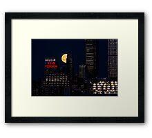 Blue Moon over The Apple Framed Print