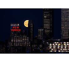 Blue Moon over The Apple Photographic Print