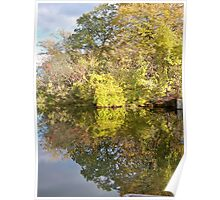 Still Waters Fall Refection Poster
