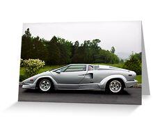 Lamborghini 25th Anniversary Edition Countach Greeting Card