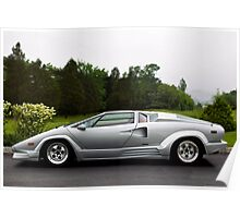 Lamborghini 25th Anniversary Edition Countach Poster