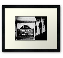 Avenue Des Champs Elysees Framed Print