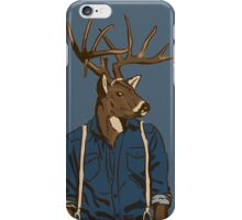 deer denim iPhone Case/Skin