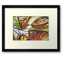 Commuter Boats Framed Print