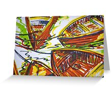 Commuter Boats Greeting Card