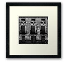 Old facade Framed Print