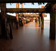 Under the Groyne by Norfolkimages