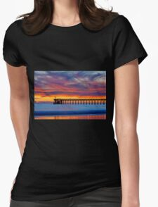 Bacara (Haskell's ) Beach and pier, Santa Barbara Womens Fitted T-Shirt