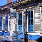 French Quarter Houses with Blue Steps by chili20325