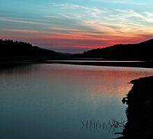 Sunset Along Clarks Creek by Sharon Batdorf