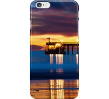 Venoco Ellwood Pier,  Bacara (haskell's) beach Goleta  at sunset iPhone Case/Skin