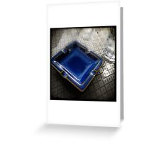 Blue Ashtray - Shenzhen, China Greeting Card
