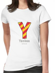 Y = Yankee Womens Fitted T-Shirt