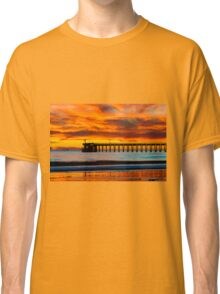 Venoco Ellwood Pier, in Bacara beach CA during sunset Classic T-Shirt
