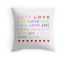 Love - JUSTART © Throw Pillow