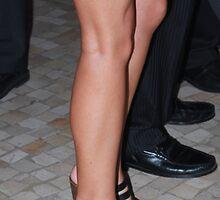 high heels blue skirt by sergione