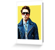 Robert Downey Jr - Low Poly Vector Greeting Card