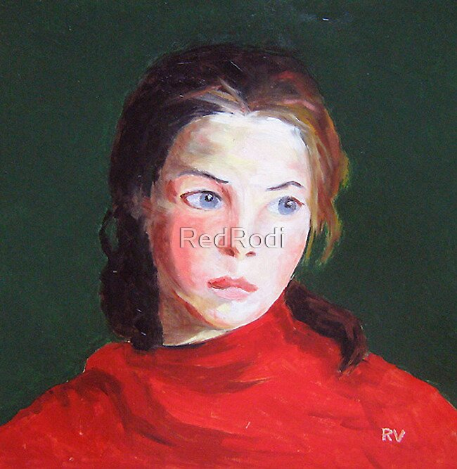 Young girl after R. Henri by Rodica Voicu