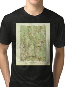 Massachusetts  USGS Historical Topo Map MA Barre 351510 1946 31680 Tri-blend T-Shirt