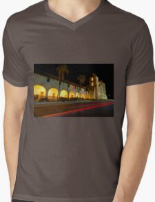 Santa Barbara Old Mission. Christmas 2011 Mens V-Neck T-Shirt
