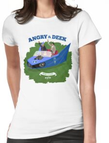 Angry & Deek - Bound For Glory (for white & light shirts) Womens Fitted T-Shirt