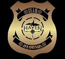 Haven Team Wuornos Gold Police Badge Logo by HavenDesign