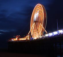 Long exposure of Blackpool big wheel  by blueandwhite80