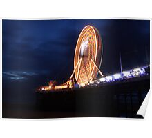 Long exposure of Blackpool big wheel  Poster