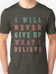 Never Give Up Typography Unisex T-Shirt