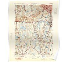 Massachusetts  USGS Historical Topo Map MA Blue Hills 351565 1941 31680 Poster