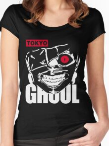 Tokyo Ghoul Kaneki Ghoul Anime Cosplay T Shirt Women's Fitted Scoop T-Shirt