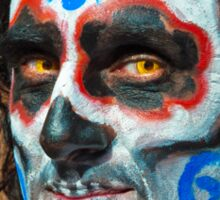 Painted face, day of the dead Sticker