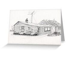 Western Southland Farm House NZ Greeting Card