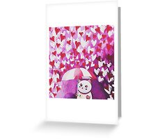 Grumpy Puppycat Greeting Card