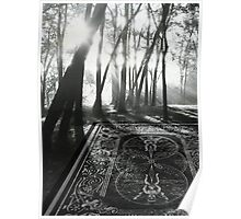 Playing card forest Poster