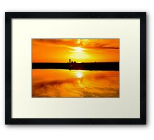 Avalon Beach Sunset Framed Print