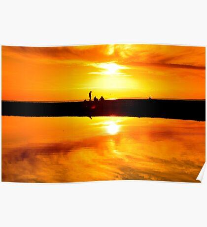 Avalon Beach Sunset Poster