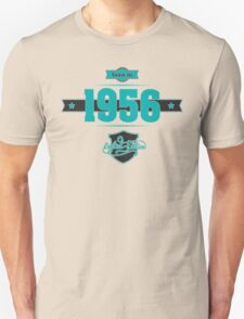 Born in 1956 (Blue&Darkgrey) Unisex T-Shirt