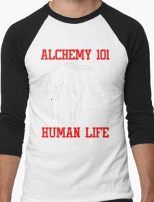 Full Metal Alchemist Brotherhood FMA Alchemy 101 Edward Elric Anime Cosplay T Shirt Men's Baseball ¾ T-Shirt