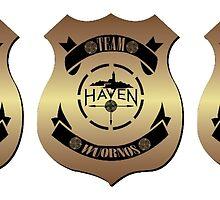 Haven Team Wuornos Police Badge Black Logo 2 by HavenDesign
