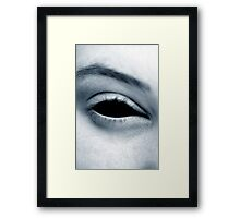 Staring into the abyss Framed Print