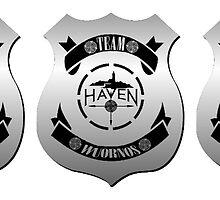 Haven Team Wuornos Silver Police Badge Logo 2 by HavenDesign