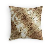 Macro Wood Texture Throw Pillow