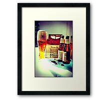 Amber Ale Framed Print