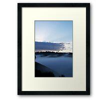 Waving Mist Framed Print
