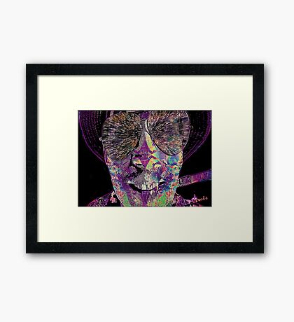 Raoul Duke- Fear & Loathing in Las Vegas Framed Print